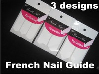 Freeshipping-300 Packs Nail Art French Tip Guides Sticker C, Y, V 3  SV bigh V 5Style Guides Sticker DIY Stencil