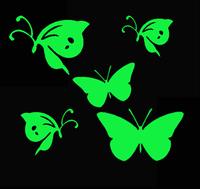 Super bright butterfly luminous stickers wall stickers  6pcs/set wall sticker