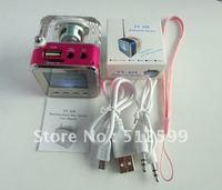 20pcs DHL Mini speaker nizhi tt028, portable speaker with screen support tf card, u-disk, fm radio siut for mp3 laptop Hot sales
