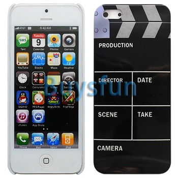 10Pieces/lot Mixed Clap Clapper Board Slate Movie Cut Hard Cover Case Skin For Apple iPhone 5 5G