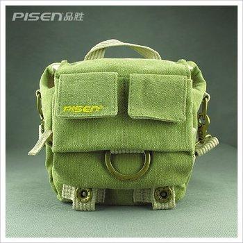 Yitao Green Shoulder Canvas Camera Bag/deluxe Photo/video Camera Gadget Bag for Canon Nikon Sony Panasonic Fuji Digital Cameras