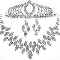 The bride jewelry set water Imitation diamond crest deserve to act the role ofing is tasted married new three-piece suit