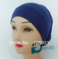 islamic head tube qualified soft cotton headband inner chemo underscarf hijab 8 colors 35pcs/lot free ship