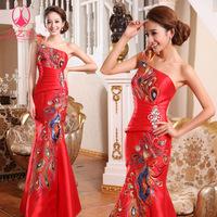 Free Shipping 2012 sistance phoeni fish tail rhinestone bridal evening long design evening dress