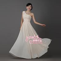 Free Shipping Chiffon long formal dress bride dress slim long formal dress welcome