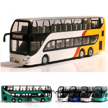 FashionTOP toys 83 - bus model double layer bus toy car