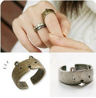 Fashion  accessories vintage bear adjustable finger ring for woman 4g