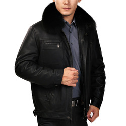 Winter new arrival suede leather clothing male genuine leather fur men&#39;s clothing liner blue fox quinquagenarian nick coat(China (Mainland))