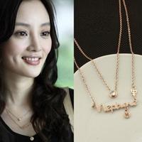 wholesale 10pcs/lot 1298 constellation letter necklaces chain necklace accessories