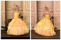 New Arrival Spaghetti Straps Ball Gown Taffeta Organza Floor Length Little Queen Girl Pageant Dresses