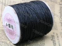 FREE SHIPPING 1.5mm Black Chinese Knot Cord / Braided Nylon Bead Cord (175yd/roll) Best For Shamballa Bracelet