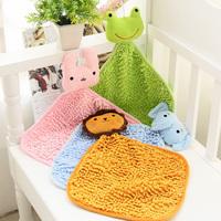 wholesale 10pcs/lot 5334 derlook animal chenille scarf hanging towel wipe towel