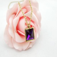 Accessories fashion exquisite purple diamond exquisite necklace chain 0001