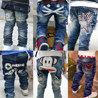 wholesale 5pcs/lot - autumn fashion all-match child casual jeans female child male child trousers baby trousers