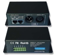 DHL Free Shipping 10pcs/lot constant voltage Led DMX512 driver,Led DMX decoder,with both RJ45&XLR-3 ports