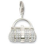 Ftime Jewelry --- 925 crystal Lady Handbag Pendant Charms Fit Bracelet #TS B103(China (Mainland))