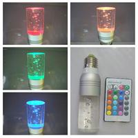 hot sale 220v E27 3w led rgb spot lighting energy saving lamp remote control crystal lamp wall lamp