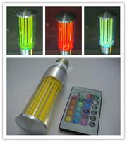 wholesale E27 3w led rgb crystal acrylic energy saving lamp remote control lamp ktv light