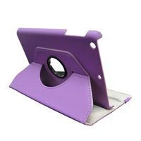 10pc/lot YY-1197, For iPad mini, 360 Degree Rotary Leather Case Cover, With Stand Various Color Available ,  FREE SHIPPING