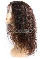 "Malaysian Virgin Curly 100% human hair,lace front wigs,Unprocessed,12""-24"",5A,free shipping"