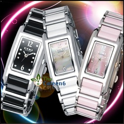 Woman Dress Diamond Stylish Rectangle Watch Hiqh Grade Top Brand Eyki Drop Shipping WE8419L(China (Mainland))