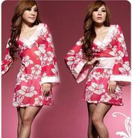 Lingerie romantic kimono taste underwear game uniforms triangle set adult supplies 8062 sexy dresses