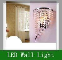 1pcs 3W E14 LED bulb  85-265V 32 x 18cm Crystal Wall Lamp  Free shipping