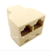 Free shipping RJ45 cable three-way head  network connector  extend the interface adapter  splitter