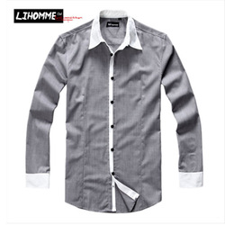 Lihomme2012 autumn american casual male long-sleeve shirt - journey classic ver Menswear(China (Mainland))