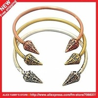 Vintage bracelet.Punk style.Rivet.Carve patterns.Alloy.Copper.Silver.Women's.Free shipping.24 pcs/lot.2012 New