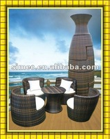 wicker PE rattan outdoor set SCAC-024