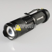 Wholesale 10 PCS ZOOMABLE 7W CREE LED Flashlight Torch Zoom LED Lamp High Power LED Adjustable G3 Express Shipping!
