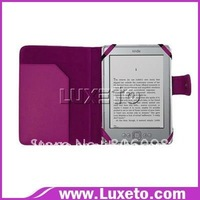 new leather case for Amazon Kindle touch free shipping 200pcs/lot