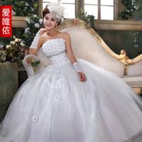 wedding dress  rhinestone flower bride wedding sweet princess wedding dress Bridal dress
