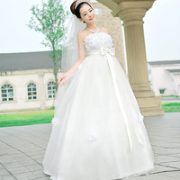wedding dress Love wedding petals big bow 2012 elegant sweet princess wedding dress Bridal dress