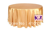 "whole sales/120"" Round white satin  table cloth/wedding tableclothfree shipping/in many color can choose"