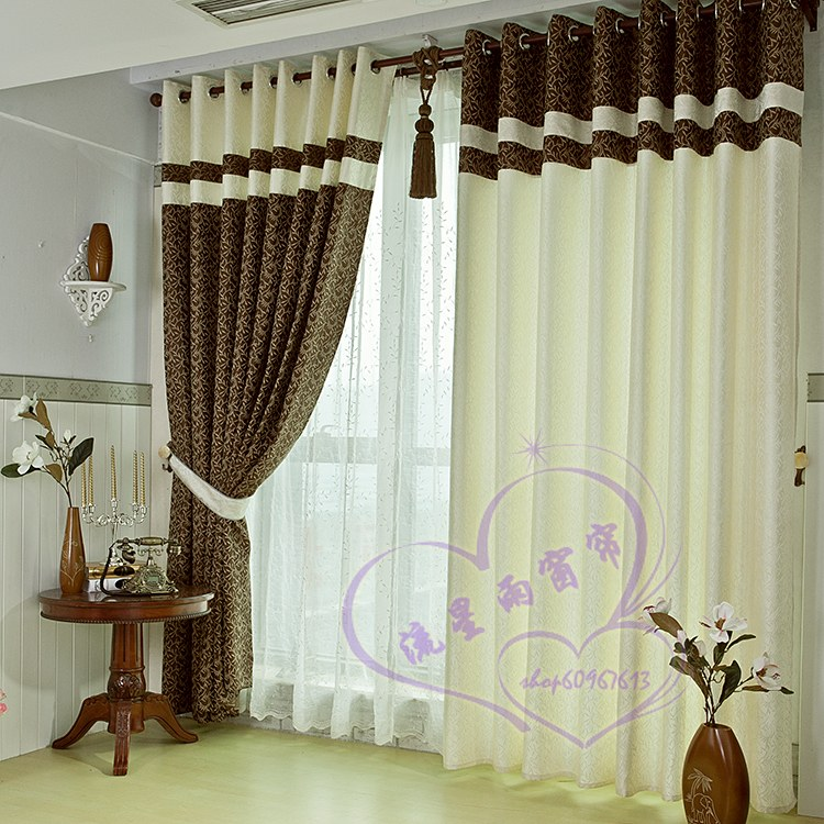 high quality & fashionable design European top Curtain dodechedron quality style brief finished products silveryarn jacquard(China (Mainland))