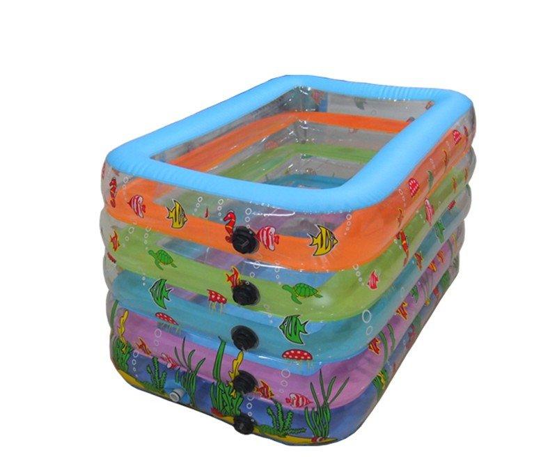 B b transparente carr e piscine gonflable dans piscine de for Acheter piscine gonflable