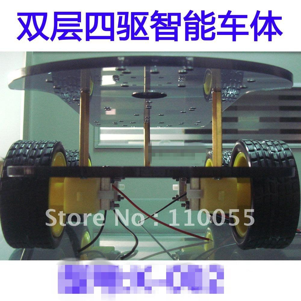Smart car chassis / 4WD / 4 wheel drive force chronological / Qiangci, motor / belt the code disc / tachometer(China (Mainland))