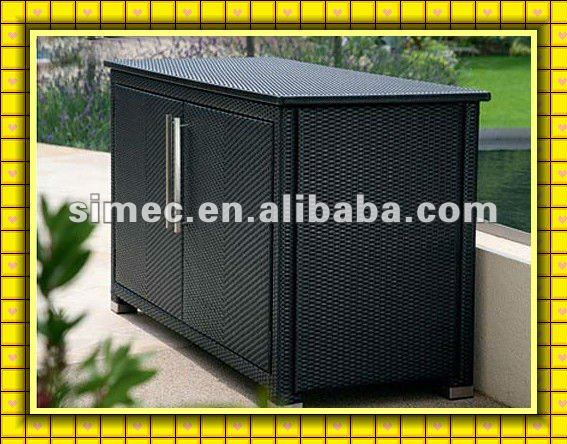wicker rattan outdoor storage cabinet SCSC-005(China (Mainland))