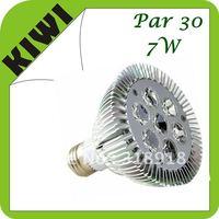 Free Shipping  Hot selling !   7W Par 30 LED Lamp Bulb E27 Spot Light Cool/ Pure / Warm White 100-240V