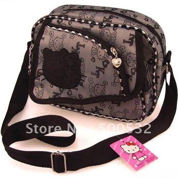 2014 Hot sale Hello kitty children messenger bag Schoolbag Aslant Bag for kids KT canvas Cute shoulder bag Free shipping