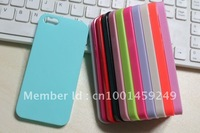 Wholesale Hot 0.7mm ultrathin Plastic candy hard case for iphone 5 5G iphone5 5S New 100pcs/lot free shipping