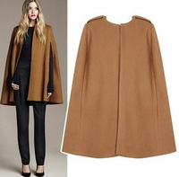 Handsome wool cape cloak outerwear camel / black 2014 new fashion korea style ladies wool blends coat woolen cape outcoat TP1