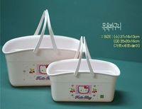 (MADE IN KOREA,BEST QUALITY) Hello kitty bath basket strawberry kt bath storage basket Small