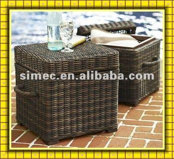 wicker PE rattan storage chest SCSC-015