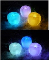 20PCS/Lot Apple Shape Colors Changing Cute Lamp Colorful LED Lamp Decoration Night Light Free Shipping
