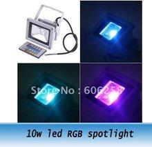 10w led RGB spotlight /led flood lamp 10w spot light ,coloful spotlight gray case(China (Mainland))