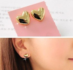 Min Order 15USD  Vintage Heart  Earrings  Fashion Jewelry D01109