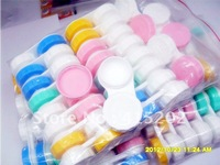 wholesale- Free Shipping Contact Lens Case Lenses Box/Color Cute Contact lens case/Cartoon Glasses box